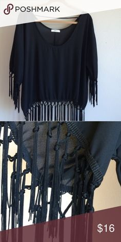 Stylebook fringe top Great condition. Can be dressed up or down! Stylebook Tops