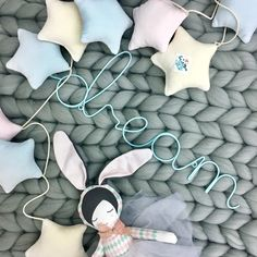 Garland Stars - a wonderful ornament for a child's room ❤