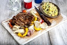 Food Categories, Steak, Grilling, Bbq, Recipies, Healthy Recipes, Healthy Food, Cheese, Drink