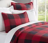 Buffalo Check Duvet Cover, Full/Queen, Red/Black