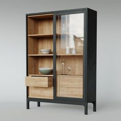 model Pinch Design Joyce Cabinet bowl cabinet dishes, formats MAX, OBJ, FBX, ready for animation and other projects Diy Furniture, Furniture Design, Bookshelf Design, Home Projects, Home And Living, Shelving, Ikea, Salon Ideas, Salon Design