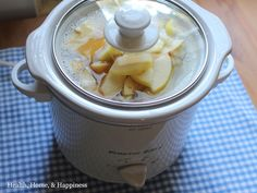Overnight crockpot oatmeal with fruit and vanilla.  xoxo