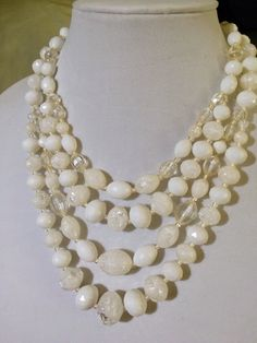 A personal favorite from my Etsy shop https://www.etsy.com/listing/232794981/vintage-lucite-bead-multi-strand