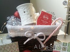 Scented Gift Basket -Scentsy warmer & fragrance, Bath & Body candle & plug in , Glade Air Freshners, Indian Spray & Febreeze Cute Gifts, Craft Gifts, Diy Gifts, Holiday Gifts, Best Gifts, Raffle Baskets, Diy Gift Baskets, Candy Baskets, Christmas Baskets