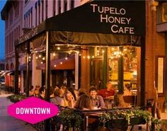 Southern Home Cookin' with an Uptown Twist...  Tupelo Honey Café, an iconic Asheville restaurant since 2000, features innovate New South fare at both its original downtown location as well as its location in South Asheville.