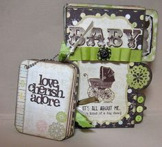 Scrapbook Album   Mini Baby  Album by BlueAppleNoteables on Etsy, $42.00