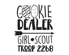 LOVE GIRL SCOUT Trefoil Logo Brownies Daisies digital