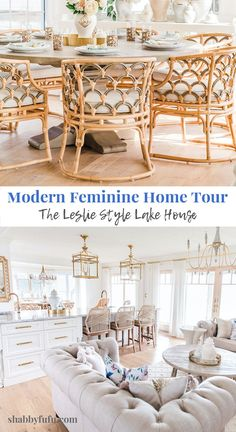 Today's modern feminine home tour is simply gorgeous and has great attention to every detail. A serious renovator and designer, you'll be swept away by this homeowner's approach to her light and airy home! #hometour #modernhomedesign #homerenovation #renovationideas #canadianhome #elegantdesign #interiordesignideas #femininedesign #modernfemininedesign #newromantics #sff225 #moderncoastal #rattanfurniture