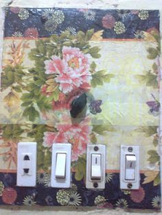 Tutorial - How to Cover an Ugly or Simple Switchplate to match room decoration