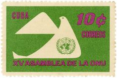 Cuba postage stamp: dove of peace