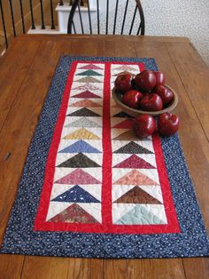 Simple table runner idea. Could make it really long enough for my my table.