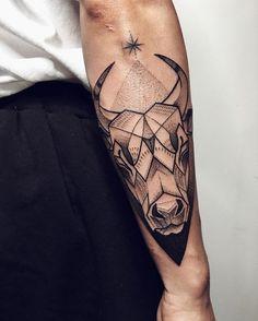 Powerful Taurus Symbol Tattoos and Its Meanings - In many cultures, the bull has. Powerful Taurus Symbol Tattoos and Its Meanings - In many cultures, the bull has been a symbol to worship due to the Symbol Tattoos, Taurus Symbol Tattoo, Taurus Bull Tattoos, Taurus Symbols, Taurus Constellation Tattoo, Zodiac Tattoos, Forearm Tattoo Men, Leg Tattoos, Body Art Tattoos