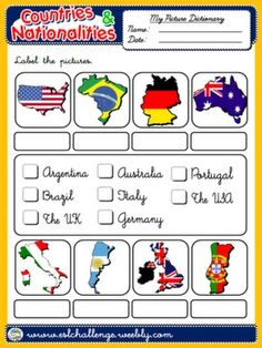 countries and nationalities worksheet 4 around the world english course english. Black Bedroom Furniture Sets. Home Design Ideas