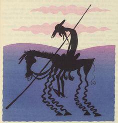 Tilting at Squiggles Illustrations by Albert Dubout for L'Ingenieux Hidalgo Don Quichotte de la Manche (1938)