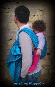 Babywearing daddy <3 Fidella Arrows love amors blue