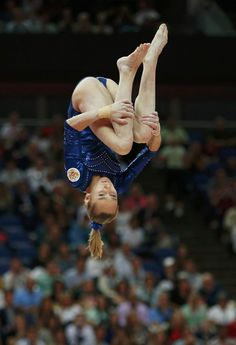 Russia's Victoria Komova competes in the balance beam during the women's individual all-around gymnastics final in the North Greenwich Arena during the London 2012 Olympic Games August 2, 2012.
