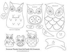 A Flammulated Owl printable pattern  Felt Animal  Bird