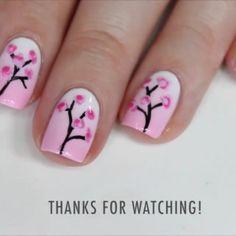 """Gorgeous cherry blossom nails by @thenailtrail"""