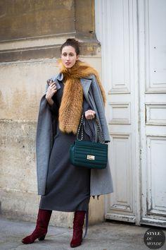 Paris Fashion Week FW 2015 Street Style: Anna Cleveland - STYLE DU MONDE | Street Style Street Fashion Photos