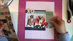 Scrapbooking process: Love