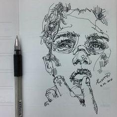 꼭 바쁠때 딴짓하고싶디 #Drawing #Art #artist #doodling #doodle #sketch #portrait #saera…