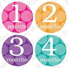 Monthly Baby Onesie Stickers  Polkadotted Girl by babyfables, $10.00