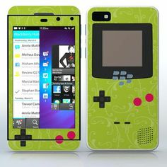 Green Video Game Designer Device Flowered video game device pattern phone skin sticker for Cell Phones / Blackberry Z10 | $7.95