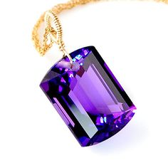Amethyst Emerald Cut Solitaire Necklace – Amy Holton Designs