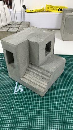 Concrete massing for exploring experience