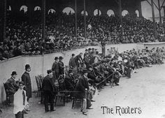 The infamous Royal Rooters at a 1903 World Series Game at Huntington Avenue Baseball Grounds 1903 World Series, First World Series, Boston Sports, Boston Red Sox, Fenway Park, Pittsburgh Pirates, Major League, Patriots, Fields