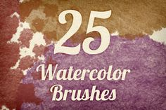 Brushes ~ Watercolor Strokes Brush Pack 3 by Design Panoply ~ Creative Market