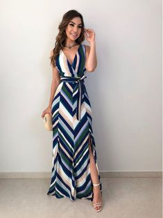 Vestido Longo Luiza is part of Cute dress outfits - Cute Dress Outfits, Chic Outfits, Cute Dresses, Summer Dresses, Long Casual Dresses, Dress Casual, Maxi Dresses, Dress Skirt, Dress Up
