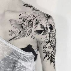 Floral tattoo -Uploaded by LyndaAnn