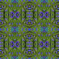 #blau #blume #Muster #Symmetrie #Wiederholung