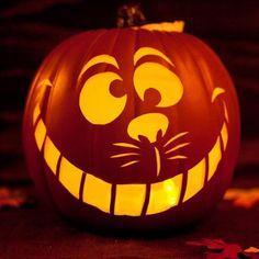 3 Cheshire Cat Pumpkin
