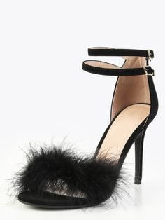 ae11e361e4e804 SheIn offers Single Sole Feather High Heels BLACK   more to fit your  fashionable needs.