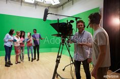FILE #:  87070556- Students On Media Studies Course In TV Studio