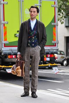 Men's Street Style #WGTA #spsf everything but the band collar...