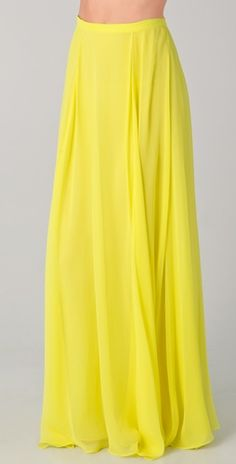 Yellow Maxi Skirt maxi dress #anna7891 #style for women #womenfashionwww.2dayslook.com