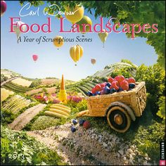 Warner Food Landscapes 2013 Wall Calendar - love this guys photos they're just out of this world! Whole landscapes constructed with food!!!