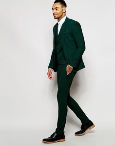 Selected Homme Super Skinny Suit Jacket - Green | Products ...