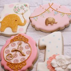 Elephant theme first birthday   Cookie Connection