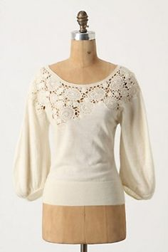 anthropologie- easy knockoff with a too big shirt and some lace. especially if you bought both on sale