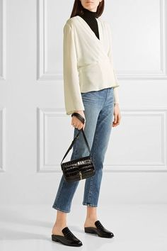 Elizabeth and James - Nerd Cropped Mid-rise Flared Jeans - Mid denim -