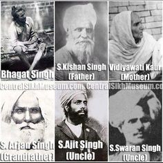 Freedom fighter Sardar Bhagat Singh and his family. The whole family was involved in the struggle for freedom. Bhagat Singh Quotes, Atal Bihari Vajpayee, Indian Freedom Fighters, Indian Army Wallpapers, Mother India, India Facts, History Of India, Religious Quotes, Historical Pictures