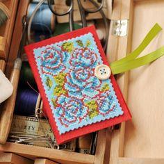 Free cross stitch chart – beautiful flowers from Maria Diaz.