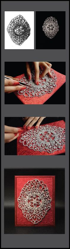 Is this Byzantine Red Wedding Invitation the most glamorous invitation ever??? <3