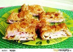 Slaný štrůdl z listového těsta recept - TopRecepty.cz Potato Salad, Potatoes, Chicken, Meat, Baking, Ethnic Recipes, Food, Bread Making, Patisserie
