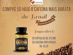 Compre hoje a Cafeina mais Barata do Brasil! Mas corra antes que acabe.  A Cafeína tem uma função muito conhecida que é aumentar os estímulos e a resistência aeróbica. Por a Cafeína obter ótimas propriedades termogênicas, evita fadiga muscular durante a atividade física de longa duração.   http://www.maissaudeebeleza.com.br/p/396/cafeina-370mg-c30-capsulas?utm_source=pinterest&utm_medium=link&utm_campaign=Cafeína&utm_content=post