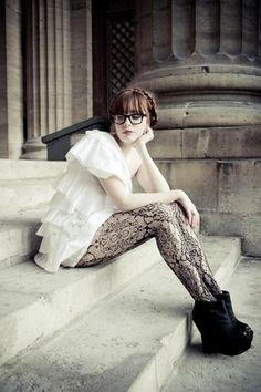 Yeojin Bae Dress, Ashish Boots, H&M Tights